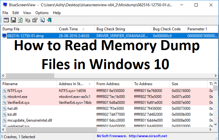 How to Read Memory Dump Files in Windows 10