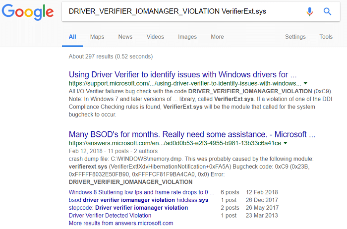Now you have all the information about the error you could easily search the web for Bug Check String + Caused by Driver