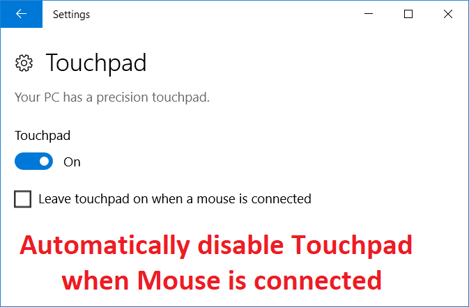 Automatically disable Touchpad when Mouse is connected