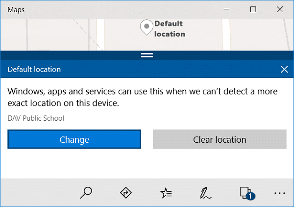 Click on Change and choose the new Default Location of your PC | How to set Default Location of your PC