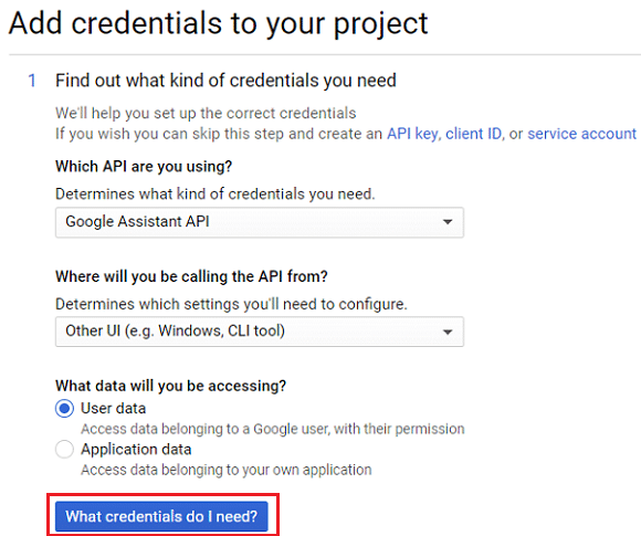 Click on What credentials do I need