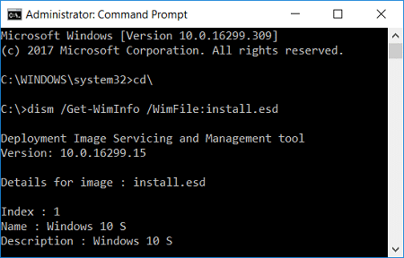 Extract Install.ESD to Install.WIM Windows 10