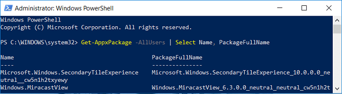 Get-AppxPackage -AllUsers | Select Name, PackageFullName | Completely Uninstall Groove Music From Windows 10