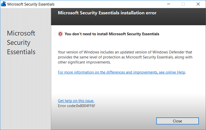 How to Uninstall Microsoft Security Essentials in Windows 10