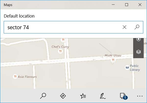 Inside Enter your location box type your current location
