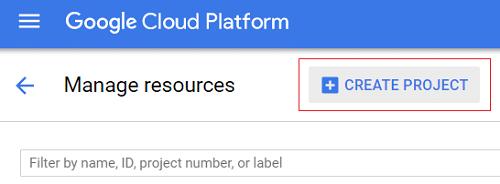 On Google Cloud Platform Console website click CREATE PROJECT