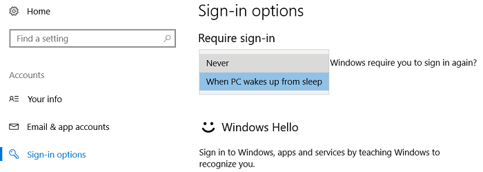 Under 'Require sign-in' select Never from the drop-down