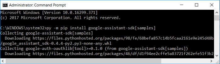 Use install pip command into Command Prompt