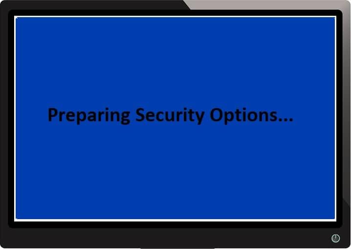Fix Windows 10 Stuck at Preparing Security Options