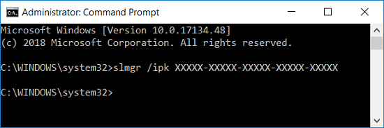 Activate Windows 10 Using Command Prompt