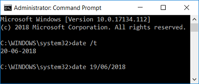 Change Date and Time in Windows 10 using Command Prompt