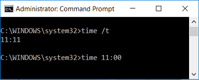 Change Date and Time in Windows 10 using cmd