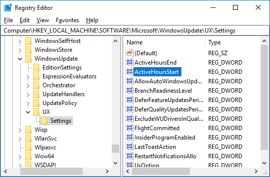 Double-click on ActiveHoursStart DWORD