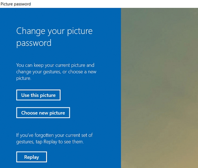 Either choose Use this Picture or Choose a new picture   How to Add a Picture Password in Windows 10