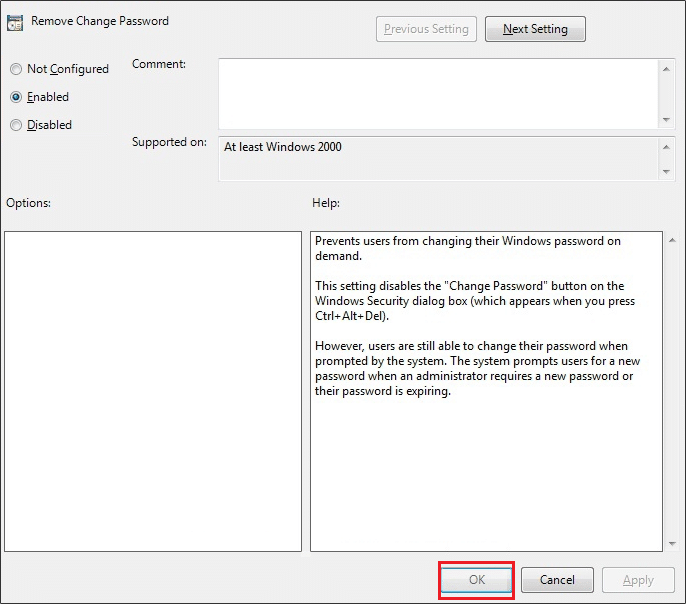 Enable Remove change password policy in Gpedit | How to Prevent Users from Changing Password in Windows 10