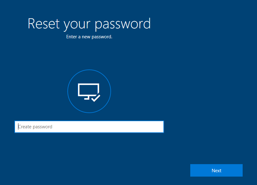 Enter a new password for your Microsoft Account   How to Reset Your Password in Windows 10