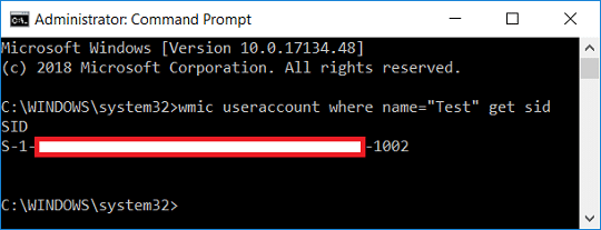 Find Security Identifier (SID) of Specific User