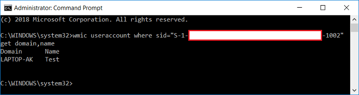 Find User Name for specific Security Identifier (SID)