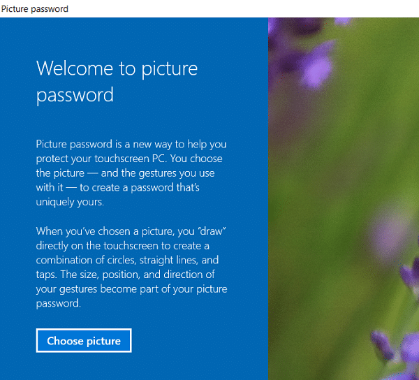 How to Add a Picture Password in Windows 10