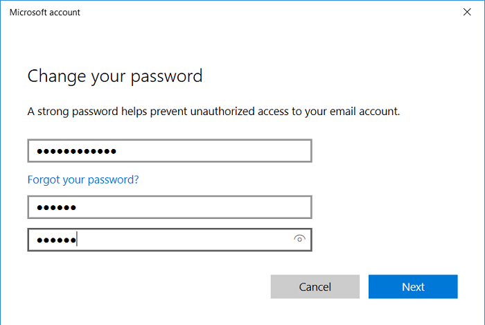 How to change your Account Password in Windows 10