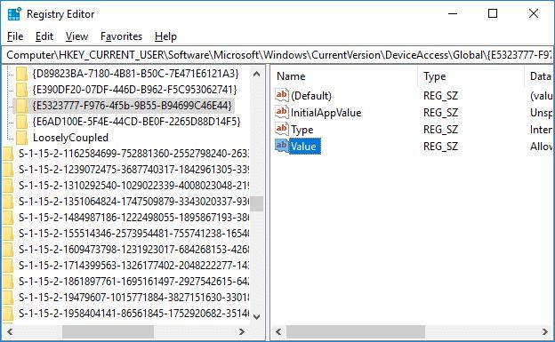 Navigate to this registry key {E5323777-F976-4f5b-9B55-B94699C46E44}