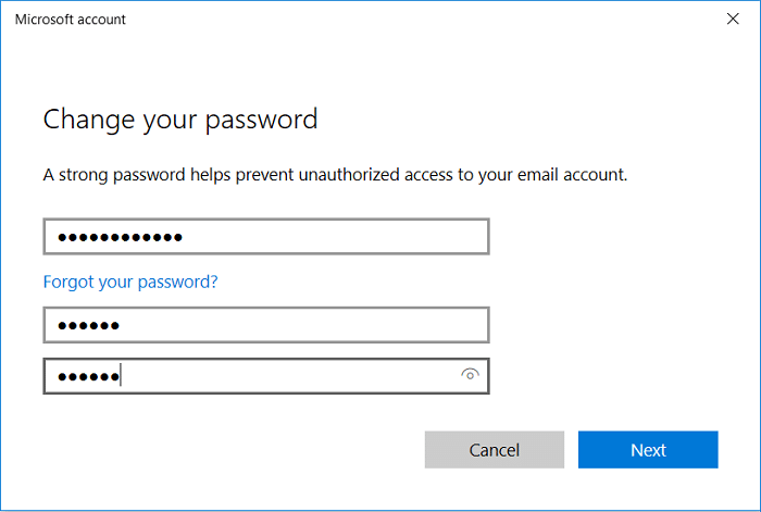 Now you can set a New password, then you have to Reenter that password