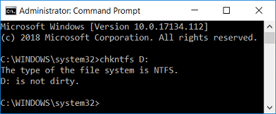 Run the command chkntfs drive_letter in order to run CHKDSK | How To Cancel a Scheduled Chkdsk in Windows 10