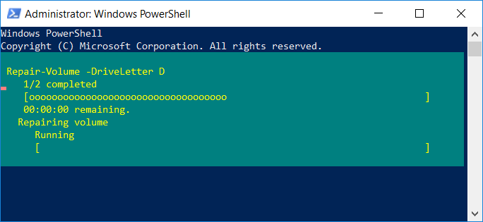 To scan and repair the drive (equivalent to chkdsk)