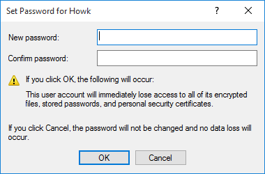Type in the New password then confirm the password and click OK | How to change your Account Password in Windows 10