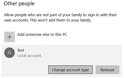 Under your username click on Change account type