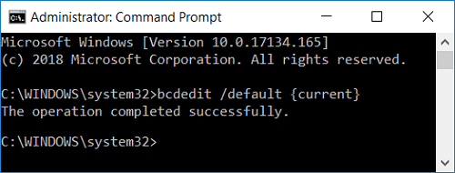 Change Default Operating System from Command Prompt