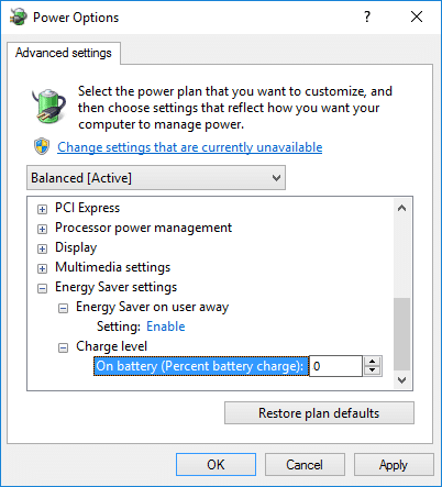 Battery saver status until next charge setting will be greyed   How to Enable or Disable Battery Saver In Windows 10