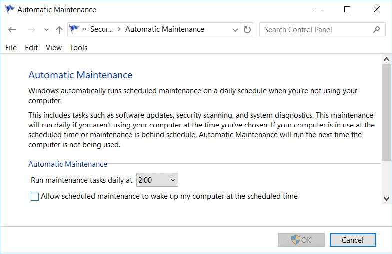 Disable Automatic Maintenance in Windows 10 | Fix Windows Modules Installer Worker High CPU Usage