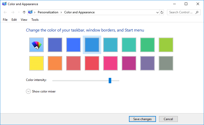 Easily Access Color And Appearance In Windows 10