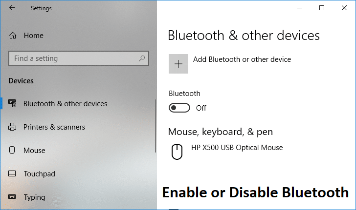 Enable or Disable Bluetooth in Windows 10