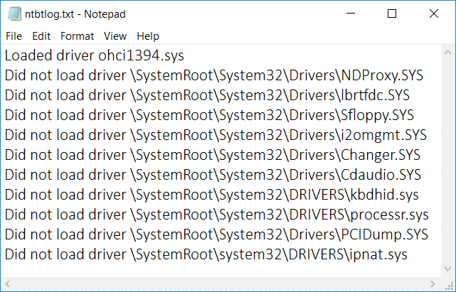 Enable or Disable Boot Log in Windows 10