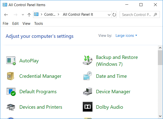 Hide Items from Control Panel in Windows 10 Using Registry Editor