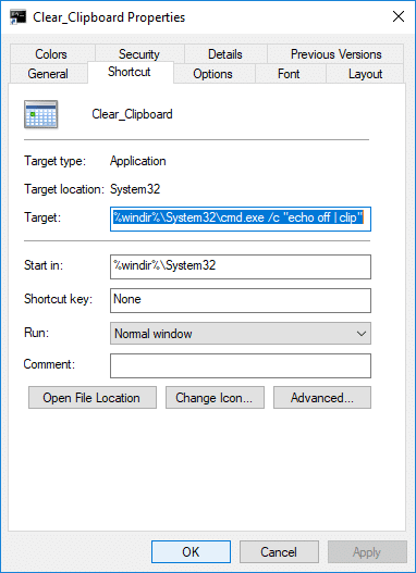 How to Create a Shortcut to Clear the Clipboard in Windows 10 | How to Create a Shortcut to Clear the Clipboard in Windows 10
