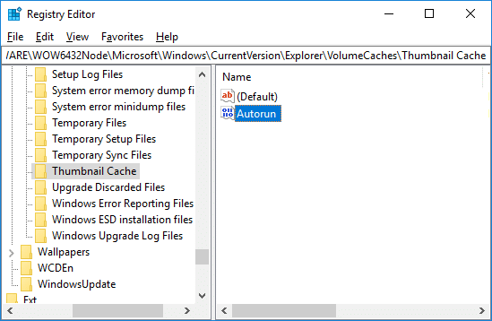 Prevent Windows 10 from Automatic Deleting Thumbnail Cache