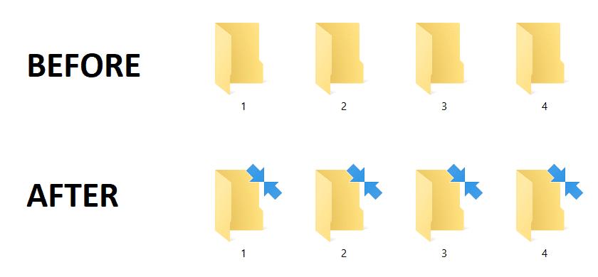 Remove Blue Arrows Icon on Compressed Files and Folders in Windows 10Remove Blue Arrows Icon on Compressed Files and Folders in Windows 10