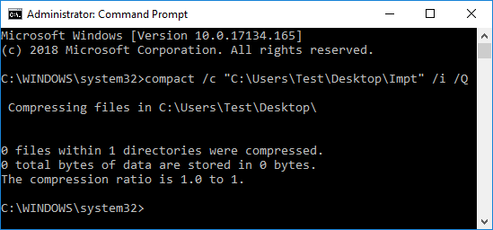 To Compress only a Folder type the following command