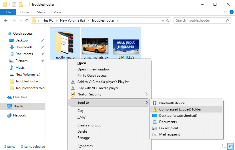 To zip different files or folders together than simply press & hold Ctrl key