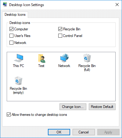 Allow or Prevent Windows 10 Themes to Change Desktop Icons