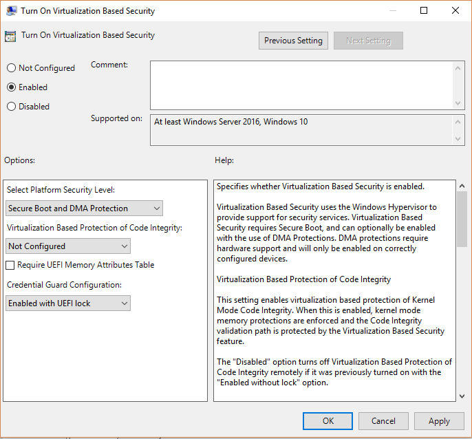 Enable or Disable Credential Guard in Windows 10