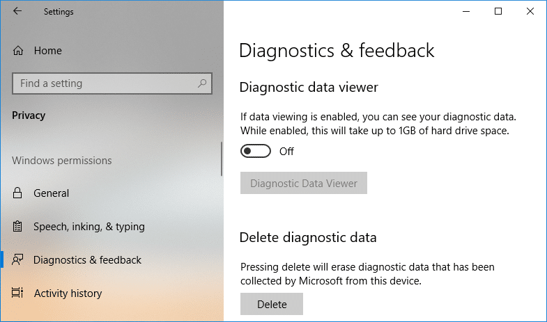 Enable or Disable Diagnostic Data Viewer in Windows 10