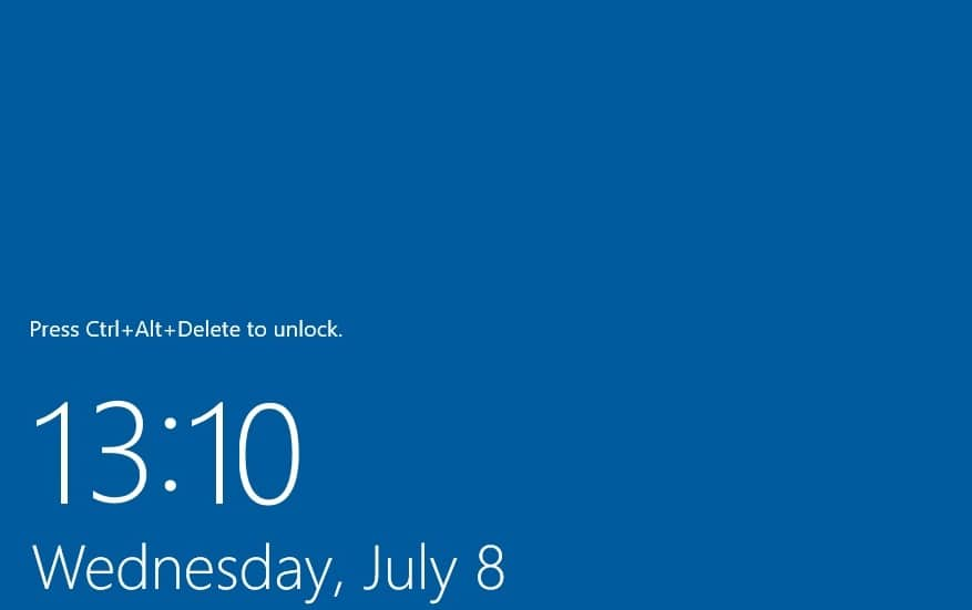 Enable or Disable Secure Login in Windows 10