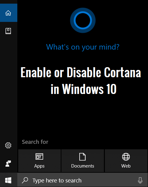 How to Enable or Disable Cortana in Windows 10