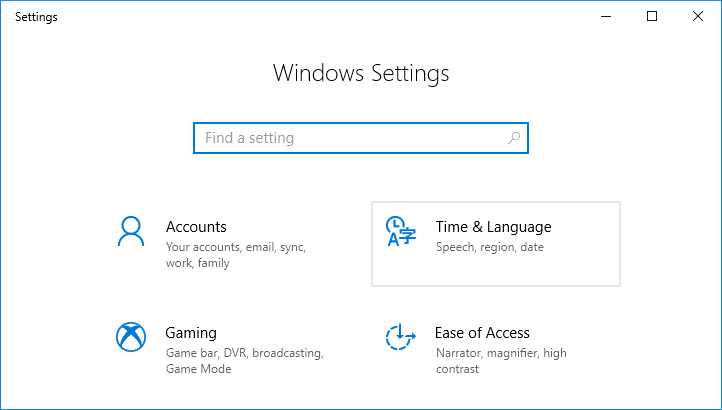 Open Settings then click on Time & language
