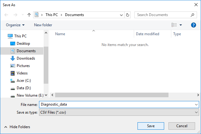 Specify a path where you want to save the file and give the file a name