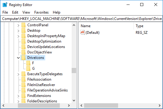 Change Drive Icon for All Users in Registry Editor